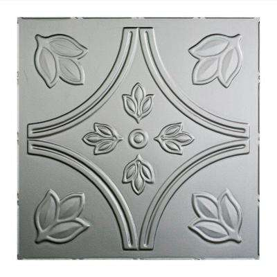 Traditional 5 - 2 ft. x 2 ft. Lay-in Ceiling Tile in Argent Silver