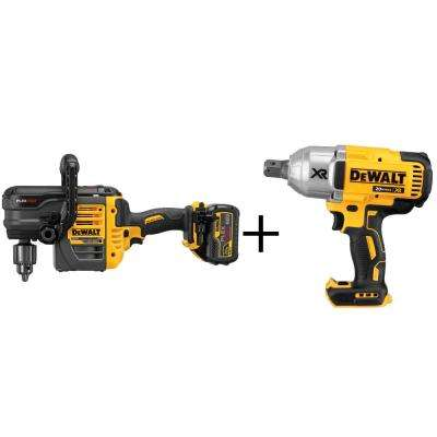 FLEXVOLT 60-Volt Lithium-Ion 1/2 in. Cordless Stud and Joist Drill with Bonus Bare 20-Volt Max Impact Wrench
