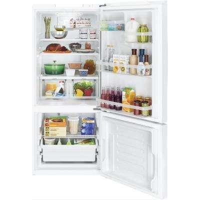 21.0 cu. ft. Bottom Freezer Refrigerator in White