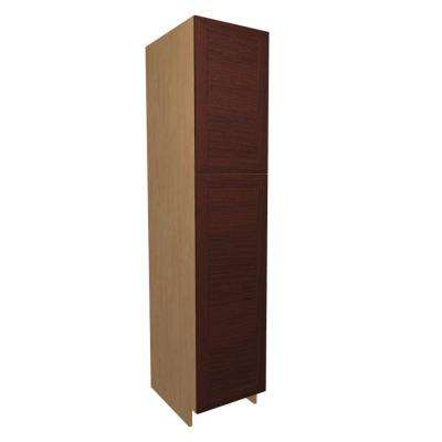 18x84x24 in. Dolomiti Pantry Cabinet with 2 Rollout Trays and 2 Soft Close Doors in Cherry