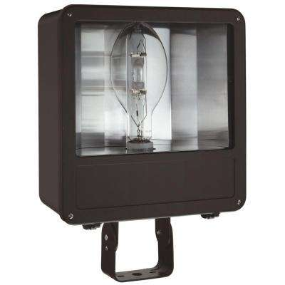 Outdoor Metal Halide Bronze Flood Light with Glass Lens and Pulse Start Ballast