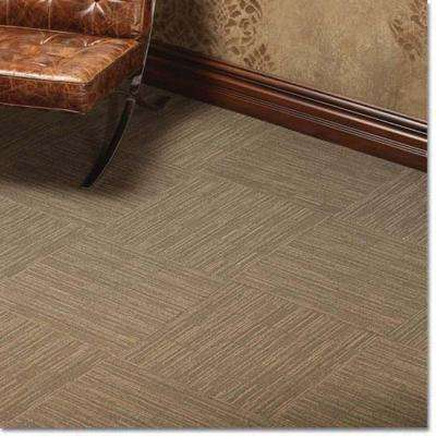 Broadway Smoked Glass Loop 19.7 in. x 19.7 in. Carpet Tile (20 Pieces/Case)