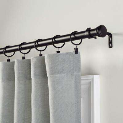 Mix and Match 1 in. Curtain Clip Rings in Matte Black (10-Pack)