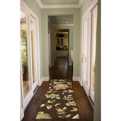 French Country Chocolate 2 ft. x 8 ft. Runner Rug