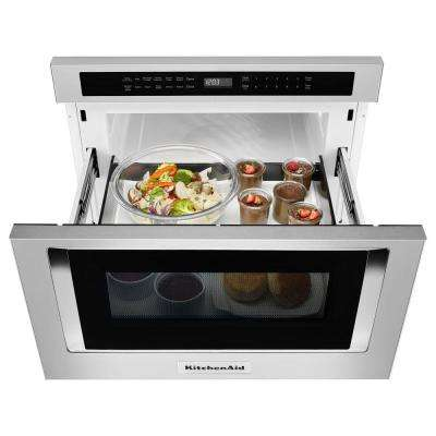 24 in. W 1.2 cu. ft. Under-Counter Microwave Drawer in Stainless Steel