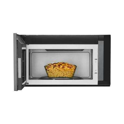 2.1 cu. ft. Over the Range Microwave in Black Stainless