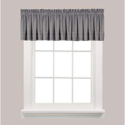 Holden 13 in. L Polyester Valance in Dove Grey