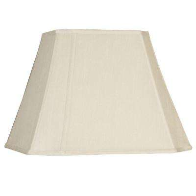 White Cut Corner Oval Single Replacement Lamp Shade-DISCONTINUED