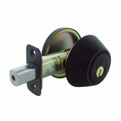 Aged Bronze Single Cylinder Deadbolt