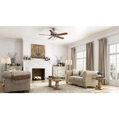 Brookhurst 52 in. LED Indoor Brushed Nickel Ceiling Fan with Light Kit