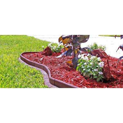 EcoBorder 4 ft. Red Rubber Landscape Edging (Single)