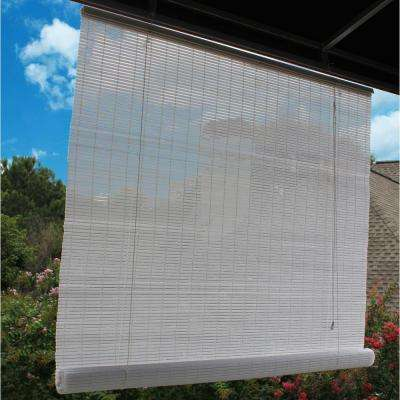 48 in. W x 72 in. L White Interior/Exterior Roll Up Patio Sun Shade