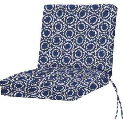 ODL Ring a Bell Navy Outdoor Dining Chair Cushion