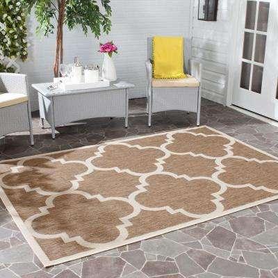 Courtyard Brown 8 ft. x 11 ft. Indoor/Outdoor Area Rug