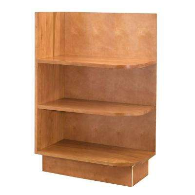 12x34.5x24 in. Hargrove Assembled Base Left End Open Shelf Cabinet in Cinnamon