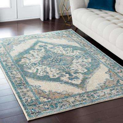 Alexios Teal 8 ft. x 10 ft. Indoor Area Rug