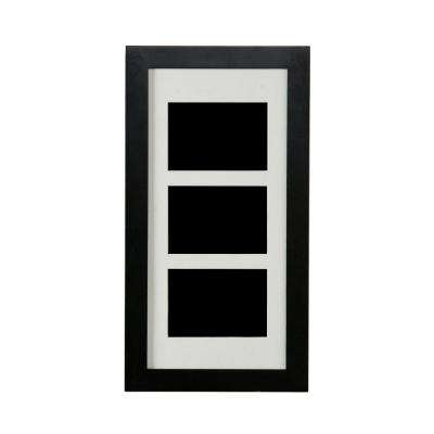 22 in. H x 12 in. W Photo Display Jewelry Armoire in Black