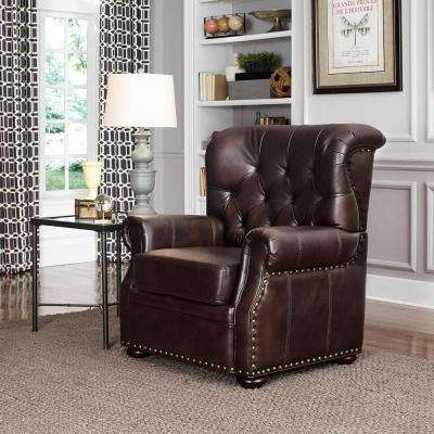 Melissa Cocoa Brown Faux Leather Arm Chair