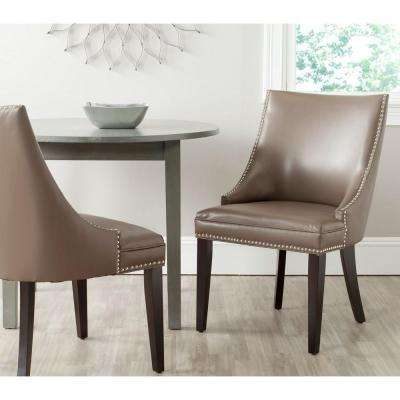 Afton Clay Bicast Leather Side Chair (Set of 2)