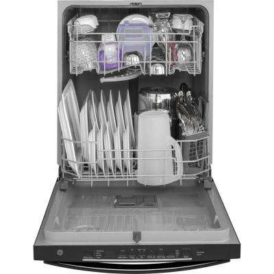 24 in. Top Control Built-In Tall Tub Dishwasher in Black with Steam Prewash, 50 dBA