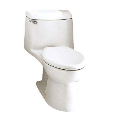 Champion 4 1-piece 1.6 GPF Single Flush Elongated Toilet in White - No Seat