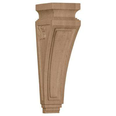 3-7/8 in. x 4-1/2 in. x 14 in. Red Oak Arts and Crafts Corbel