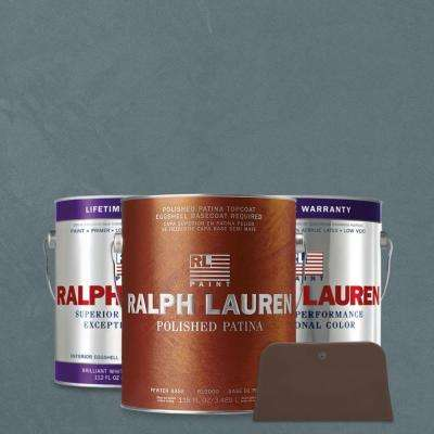 1 gal. Old Sapphires Pewter Polished Patina Interior Specialty Paint Kit