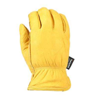Extra-Large Insulated Grain Cowhide Leather Work Gloves