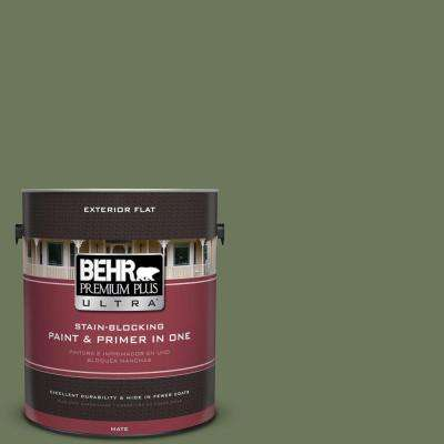 1-gal. #420F-6 Egyptian Nile Flat Exterior Paint