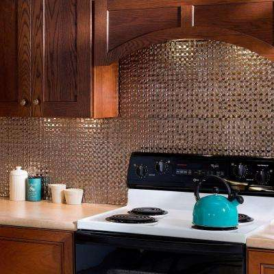 18 in. x 24 in. Terrain PVC Decorative Tile Backsplash in Brushed Nickel