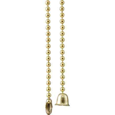 36 in. Solid Brass Bead Ball Type Pull Chain Extension