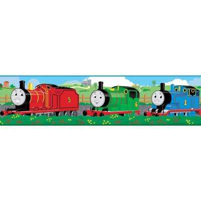 5 in. x 9.25 in. Thomas and Friends Peel and Stick Border (1-Piece)