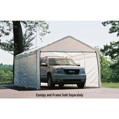 12 ft. W x 20 ft. D Enclosure Kit for SuperMax Canopy in White w/ 100% Waterproof Seams (Canopy and Frame Not Included)