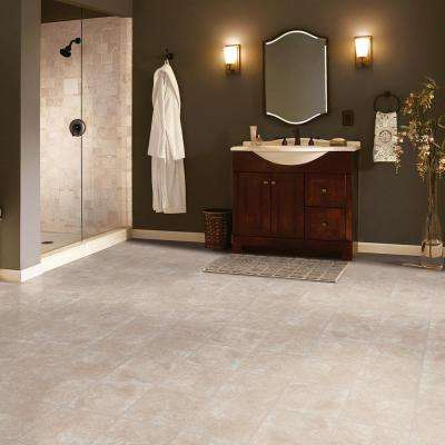 Overlook II Sandstone 12 in. x 12 in. Residential Peel and Stick Vinyl Tile Flooring (45 sq. ft. / case)