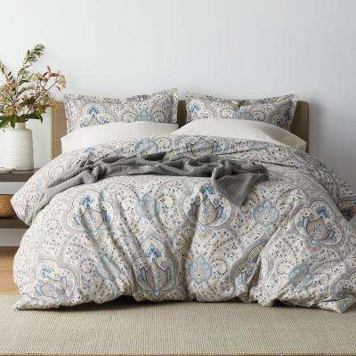 Inverness 200-Thread Count Cotton Percale Duvet Cover Set