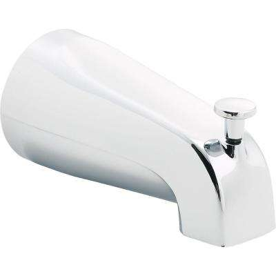 5.56 in. Long Pull-Up Diverter Tub Spout in Chrome