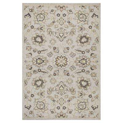 Umbria Silver 6 ft. 7 in. x 9 ft. 6 in. All-Weather Area Rug