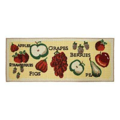 Tossed Fruits 20 in. x 48 in. Textured Accent Kitchen Runner