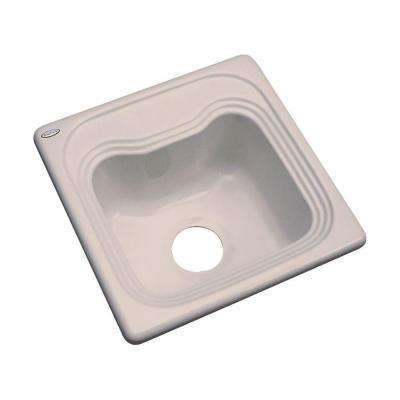 Oxford Drop-In Acrylic 16 in. Single Bowl Entertainment Sink in Fawn Beige