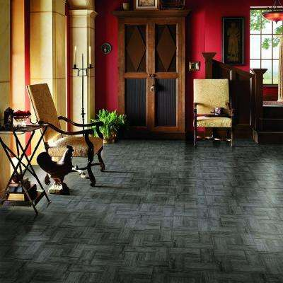 Grey Wood Parquet 12 in. x 12 in. Residential Peel and Stick Vinyl Tile (30 sq. ft. / case)