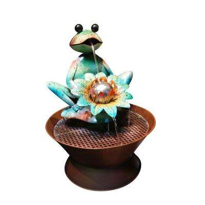Frog Metal Fountain
