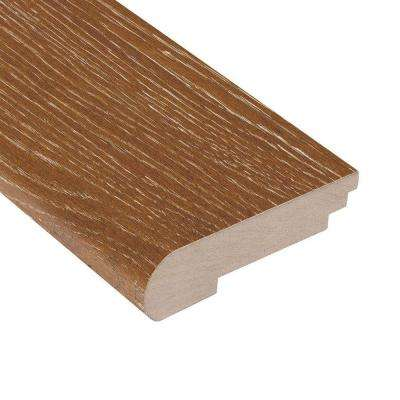 Wire Brushed Heritage Oak 3/8 in. Thick x 3-3/8 in. Wide x 78 in. Length Hardwood Stair Nose Molding