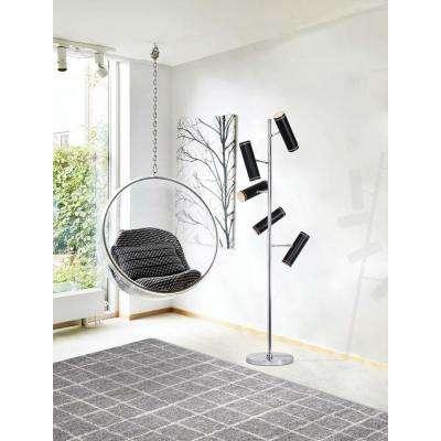 Alberto Gray/White 5 ft. x 7 ft. Indoor Area Rug