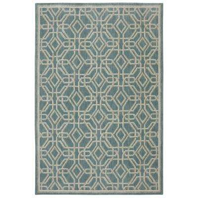 Reflections Abbott Bay Blue 8 ft. x 10 ft. Area Rug