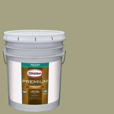 5-gal. #HDGG25 Pacific Pines Sage Semi-Gloss Latex Exterior Paint