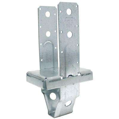 PBS 4 in. x 6 in. Galvanized Standoff Post Base