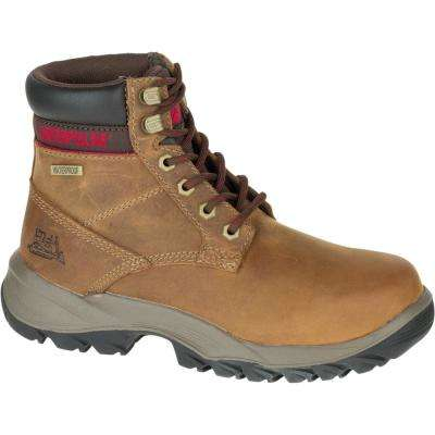 Dryverse Women's Dark Beige Waterproof Work Boots
