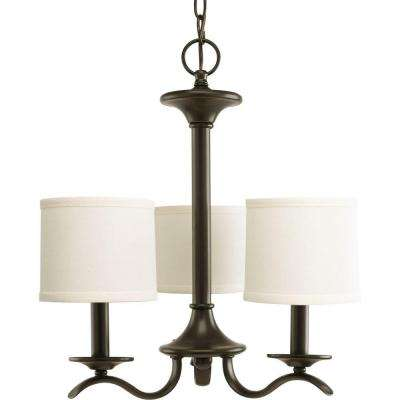 Inspire Collection 3-Light Antique Bronze Chandelier