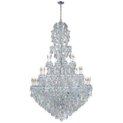 Maria Theresa 60-Light Chrome with Clear Crystal Chandelier
