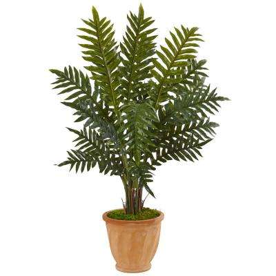 Indoor Evergreen Artificial Plant in Terracotta Planter